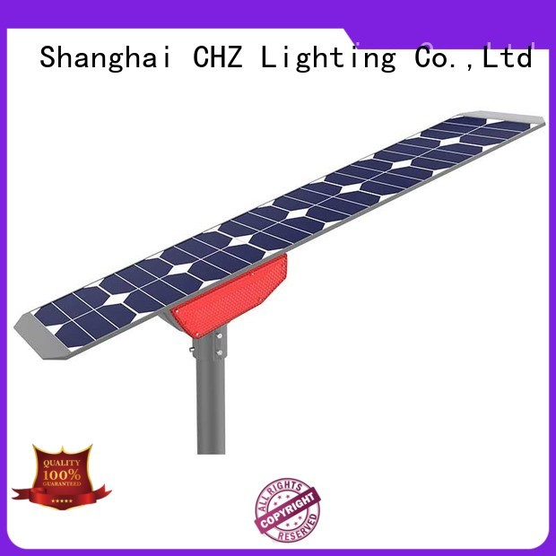 CHZ rohs approved led street light solar powered wholesale bulk production
