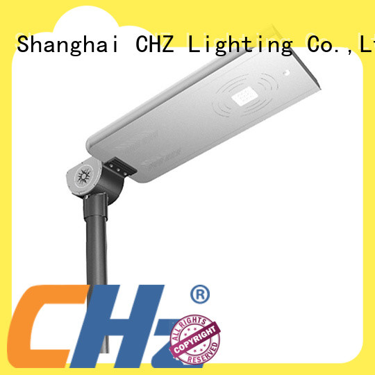 CHZ solar powered street lamp factory price school