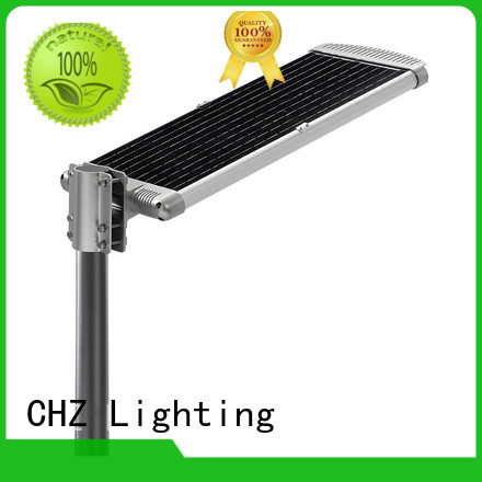 CHZ rohs approved solar powered led pole lights streets