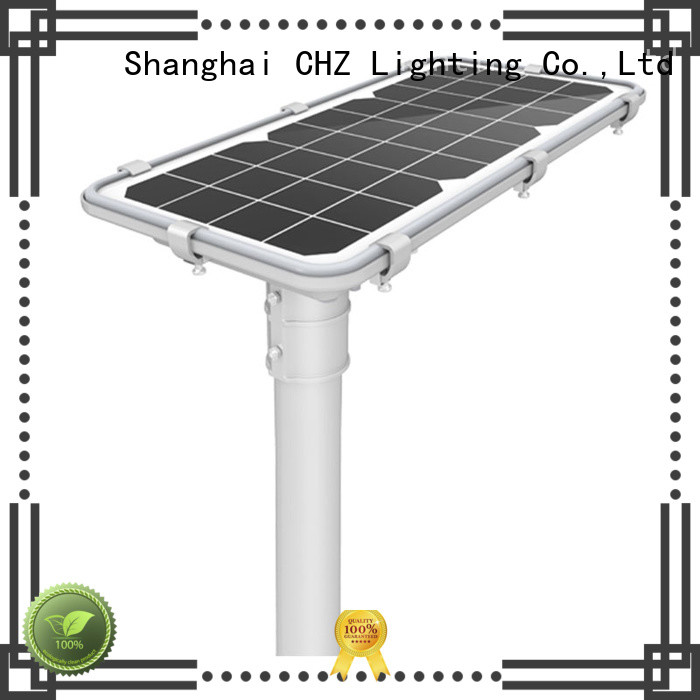 CHZ environmental friendly solar powered led street lights factory park road