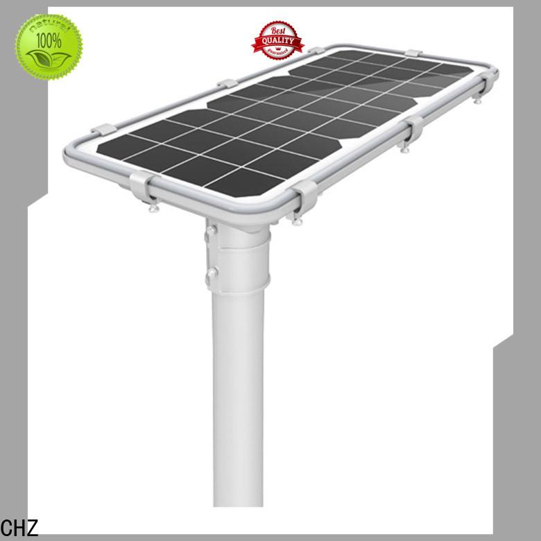 CHZ best all in one solar street lights best manufacturer for school