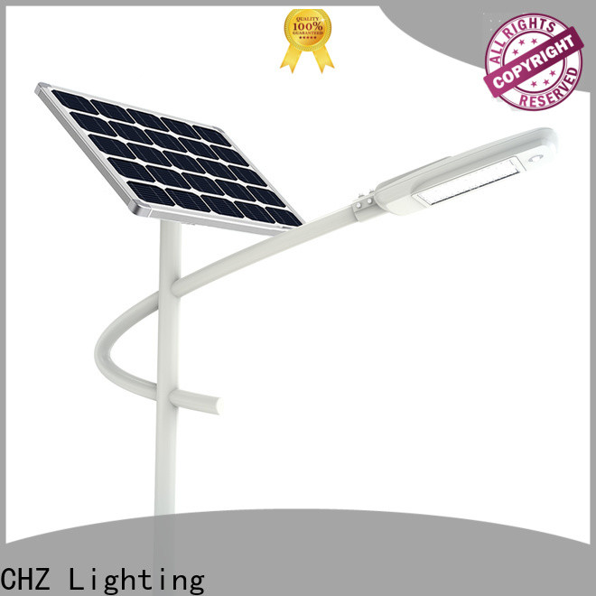 CHZ controllable semi integrated solar street light best manufacturer for sale