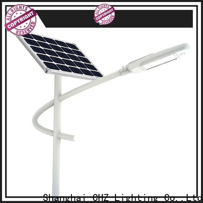 CHZ rohs approved best solar street lighting factory for streets