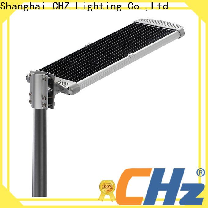 CHZ stable solar street light price list manufacturer for mountainous