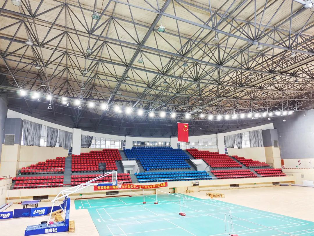 Sport lighting effect after renovation