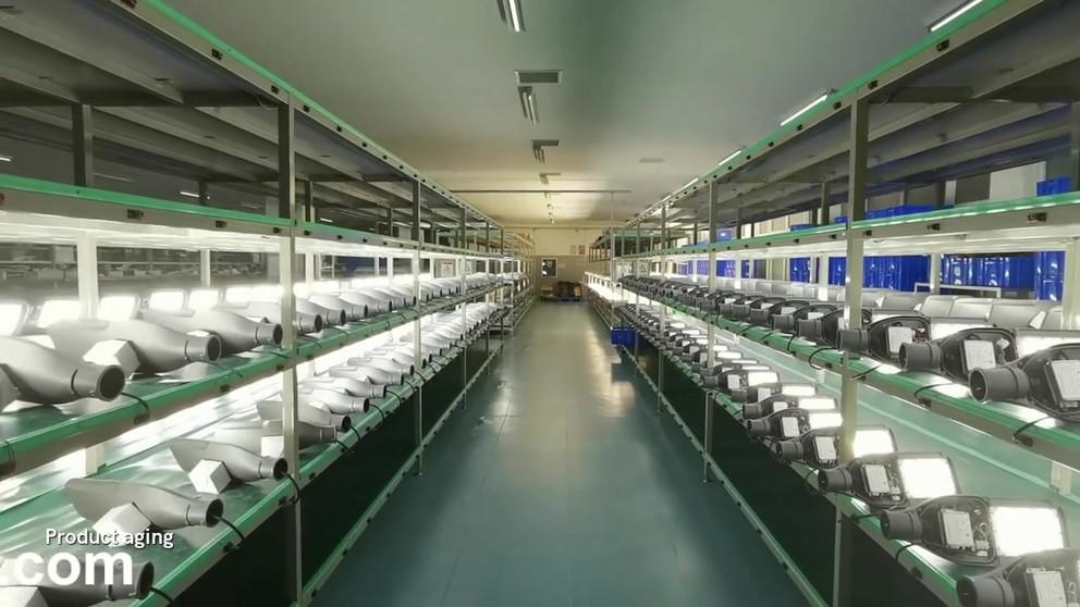 Processo de produção de lâmpada de luz LED ao ar livre CHZ