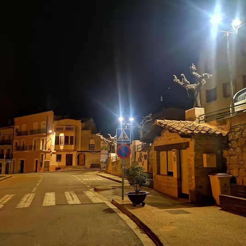 Lâmpada de rua municipal de San Juan Renovação de iluminação implementada