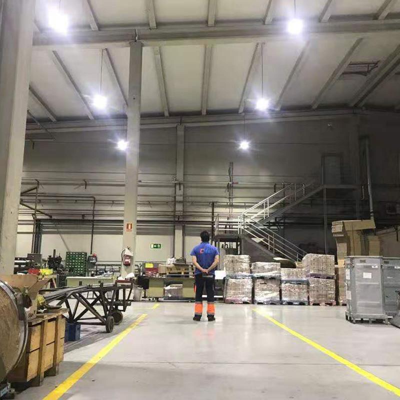 Projeto de iluminação de fábrica de Espanha concluída com sucesso