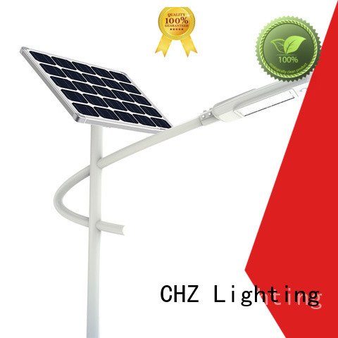 CHZ practical solar powered street lamp supplier for streets